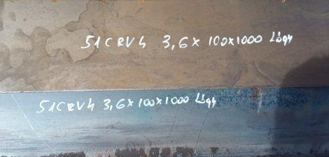 51CrV4 Rugóacél 3,6x100x1000mm