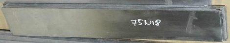 75Ni8-1.5634 acél - 2,1x30x500 mm köszörült felület