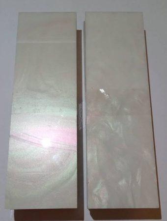 Akril gyöngyház markolatpanel pár 10x40x130mm