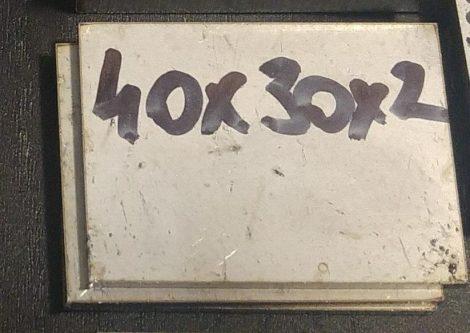 Baknianyag 2x30x40mm 1.4301 Saválló acél