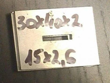 Baknianyag 2x30x40(15x2,5)mm 1.4301 Saválló acél