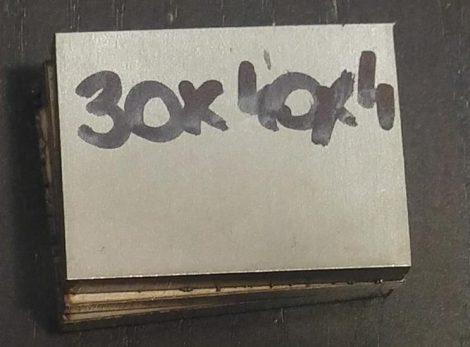 Baknianyag 4x30x40mm 1.4301 Saválló acél