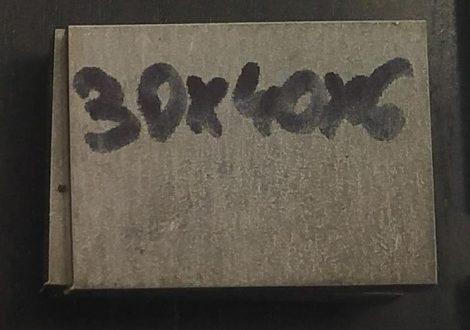 Baknianyag 6x30x40mm 1.4301 Saválló acél
