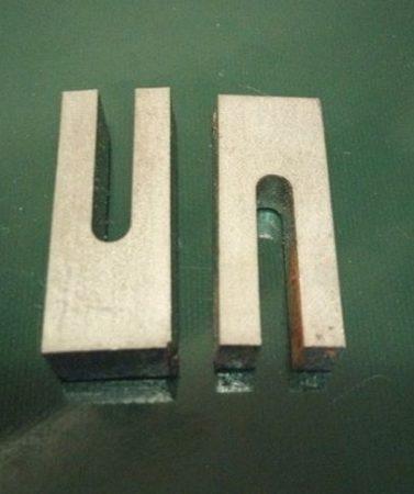 Baknianyag hasított 9,5x15x38mm hasítás 4,5x24mm 1.4301 Saválló acél