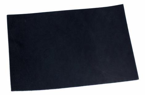 Bőr anyag 3x125x250mm Feketére festett növenyi cserésű marhabőr