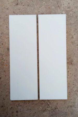 Corian - Hófehér12x42x130mm panelpár