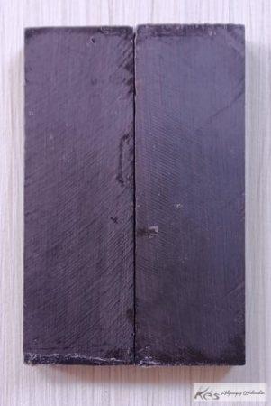 Ében panelpár markolatanyag Fekete 10x40x122mm