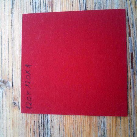 Fíber 1x120x120 mm - Piros