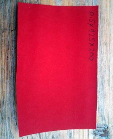 Fíber 0,5x125x200 mm - Piros
