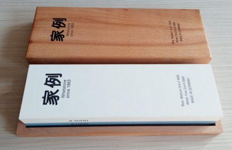 Whetstone Fenőkő kombinált 200x60x30mm1000/3000 kék/fehér