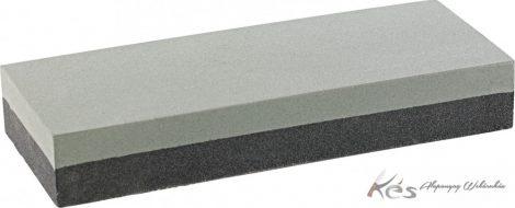 Super Arkansas fenőkő kombinált Siliciumkarbid 150x50x20mm150/400 szürke/kék