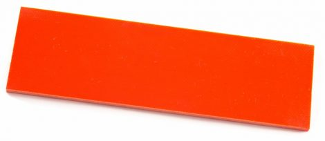 "G10 ""Hunter Orange"" 3,6x40x130mm Panelpár"