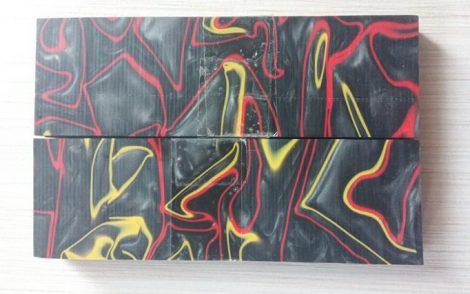Kirinite Grafit/piros/sárga 6,5x40x130mm Panelpár