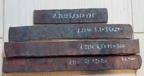 Ezüstacél - Böhler K510 - 1.2210 Kb.3,8x35x285mm