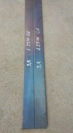O1 - 100MnCrW4 - 1.2510 acél - 3,8x50x1000 mm