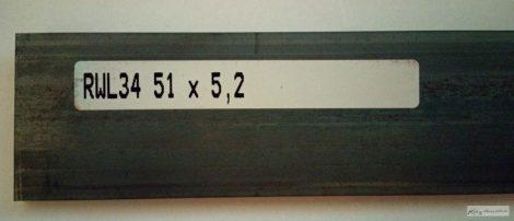 RWL34 5,2x51x250mm Késacél