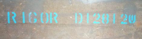 RIGOR-1.2363- 6x50x500mm késacél(lézervágott)