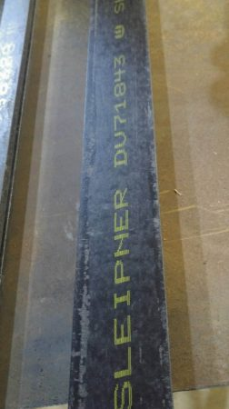 Sleipner acél - 8x57x500mm
