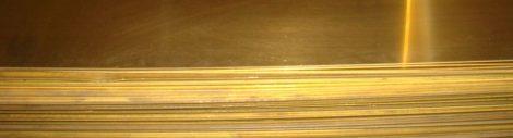 Sárgaréz Lemez 1x100x250mm
