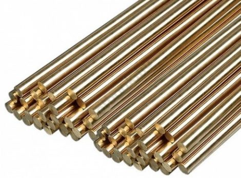 Sárgaréz szegecsanyag Rúd D6x165mm