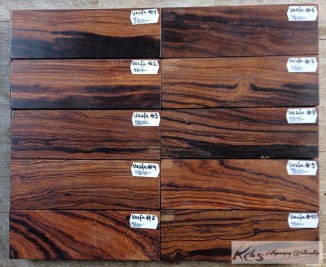 Sivatagi vasfa (desert Ironwood)tömb A++ markolatanyag 30x43x132 mm