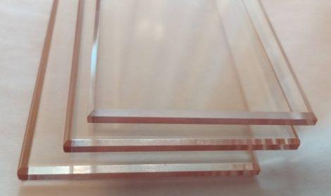 Hőálló üveglap síklaphoz 4x49x180mm