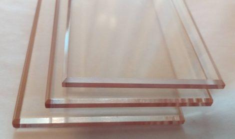Hőálló üveglap síklaphoz 4x49x130mm