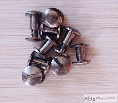 Kydex Chicago csavar acélszürke d5xD10x7-11,5mm (3db)
