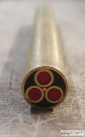 Mozaik szegecs D10x100mm fekete-piros