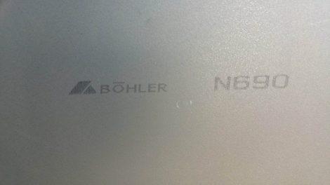 N690 2,7x100x503 mm, Rozsdamentes késacél