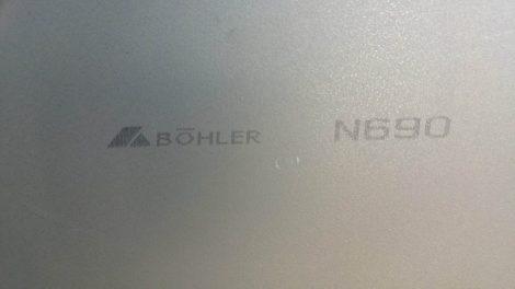 N690 2,7x120x500 mm, Rozsdamentes késacél